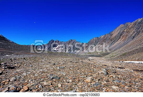 Stone desert in the mountains of eastern Siberia - csp32100683