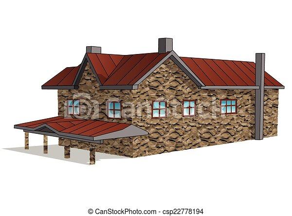 stone farmhouse - csp22778194