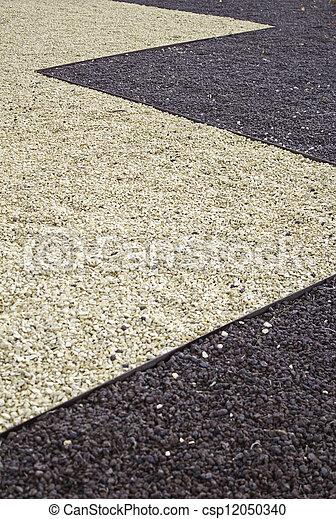 Stone floor decorated - csp12050340