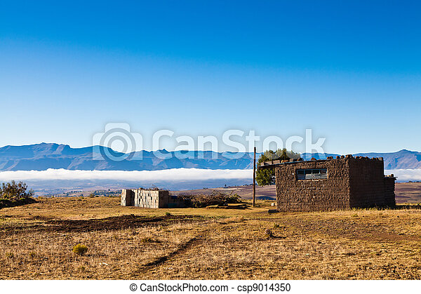 Stone house in the mountains - csp9014350