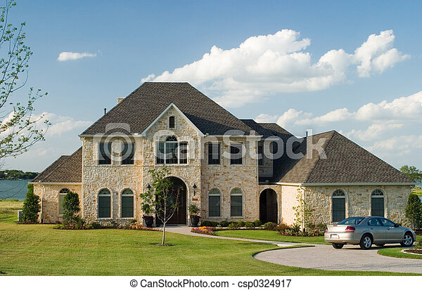 Stone House On Lake Very Large And Beautiful Stone And