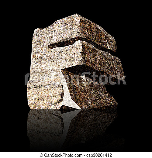 stone letter F - csp30261412