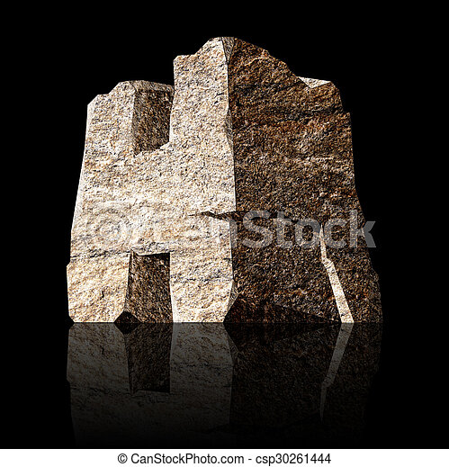 stone letter H - csp30261444