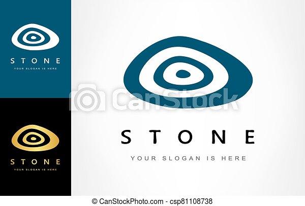 stone logo vector - csp81108738