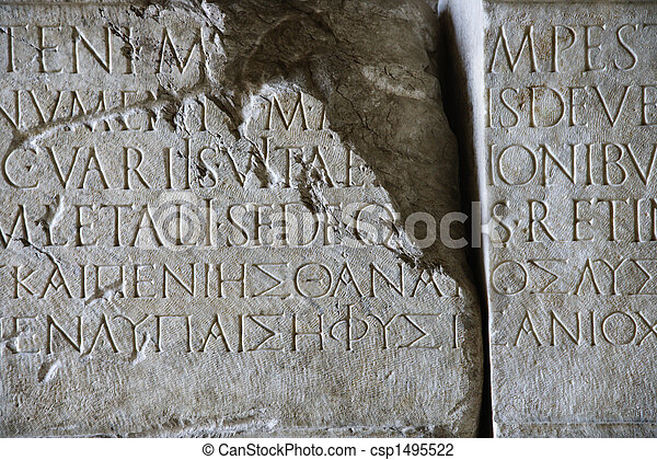 stone., manoscritto - csp1495522