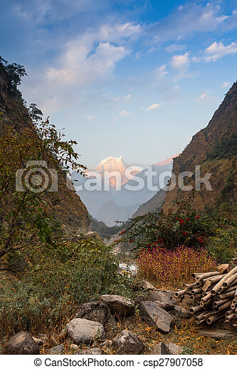 Stone path in the mountains - csp27907058