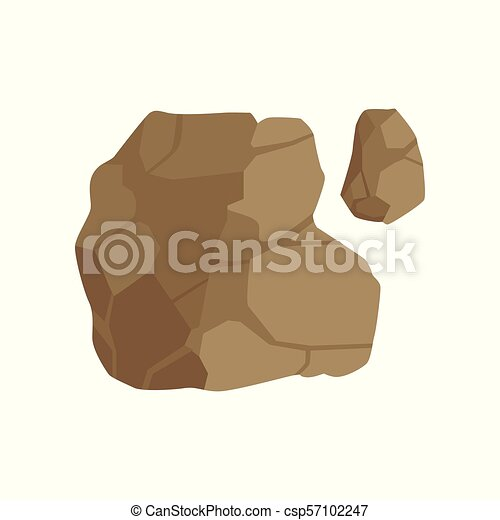 Stone path, landscape design element, pathway cover, top view vector Illustration on a white background - csp57102247