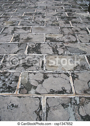 stone paved road background - csp1347652