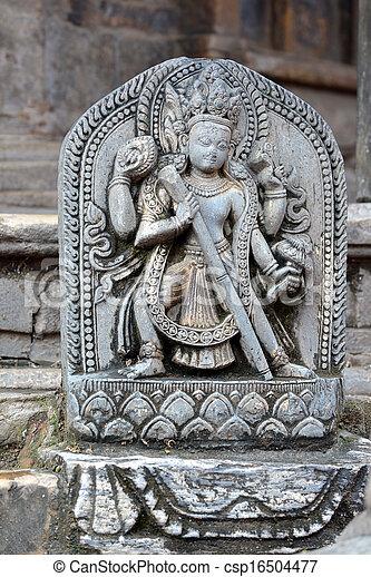 Stone relief, sculpture of Shiva - csp16504477
