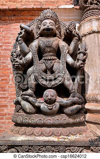 Stone relief, sculpture of Shiva - csp16624012