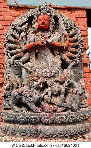 Stone relief, sculpture of Shiva - csp16624021