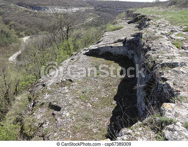 Stone Room Excavations at Ovech Fortress, Bulgaria - csp67389309