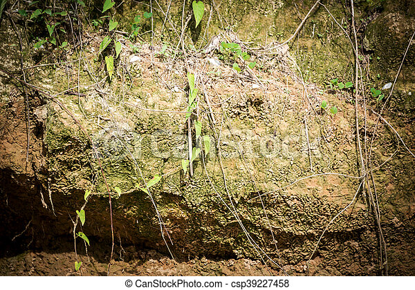 Stone texture very dirty in soft light . - csp39227458