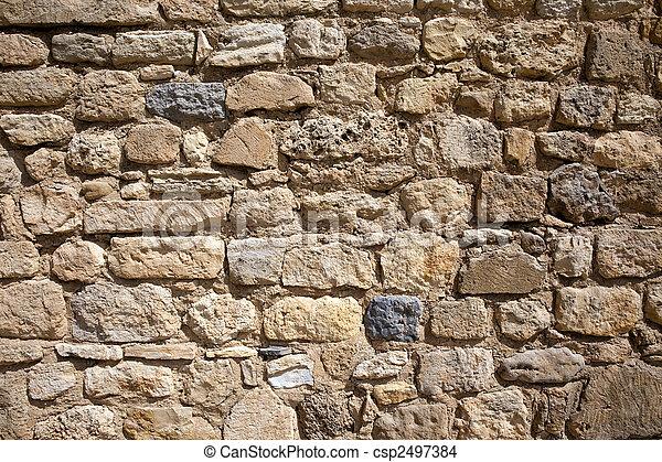 Stone wall 2 - csp2497384