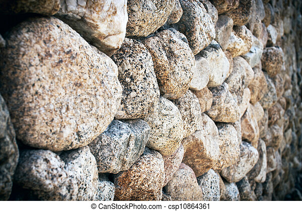 Stone wall as background - csp10864361