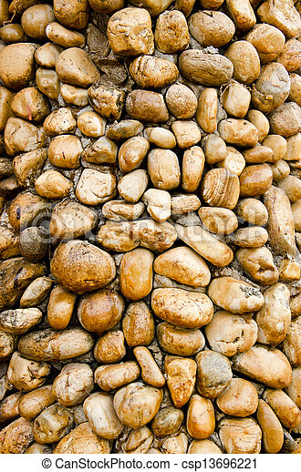 Stone wall as background - csp13696221