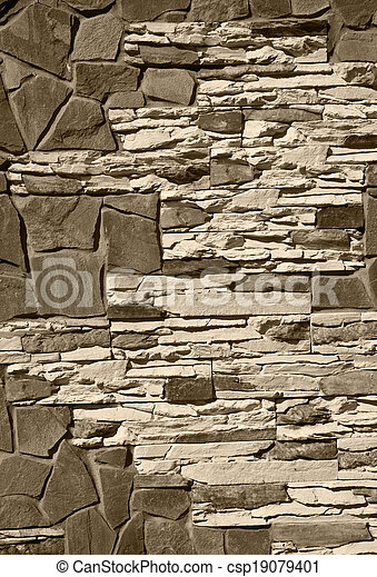 stone wall as background - csp19079401
