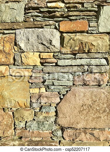 Stone wall background 2 - csp52207117