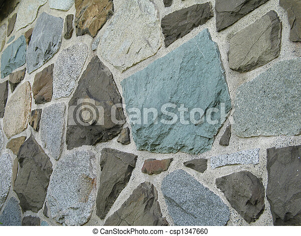 stone wall background - csp1347660