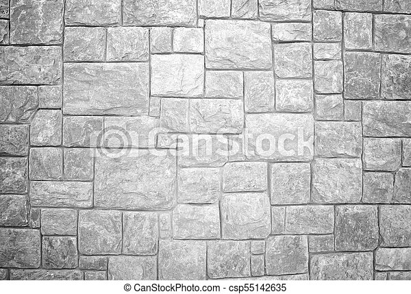Stone wall black and white - csp55142635