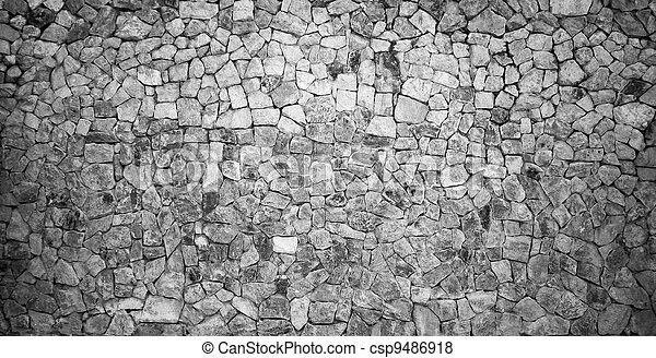 Stone Wall Black&White - csp9486918