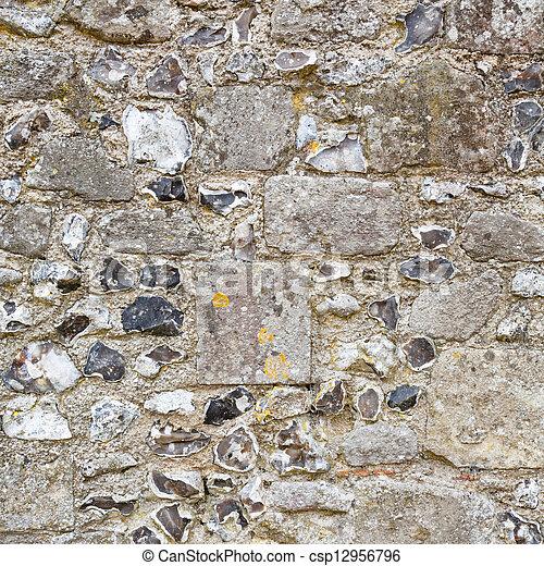 Stone wall detail - csp12956796