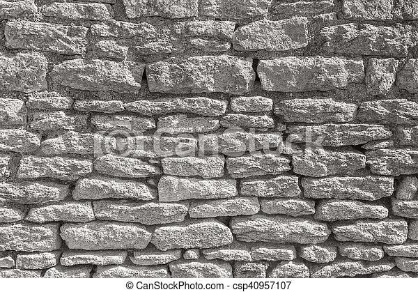 stone wall detail - csp40957107