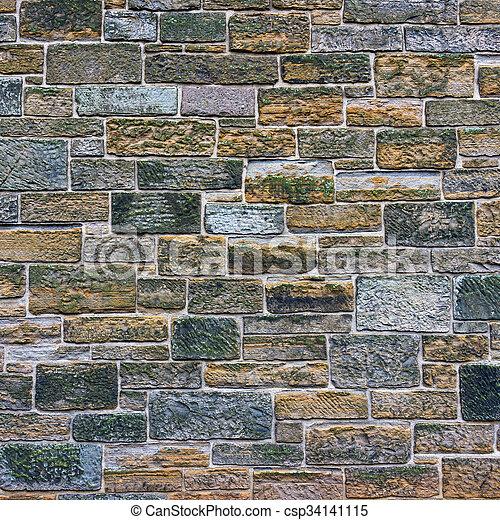 Stone wall texture - csp34141115