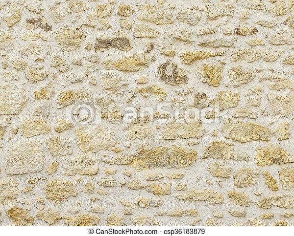 Stone wall texture - csp36183879