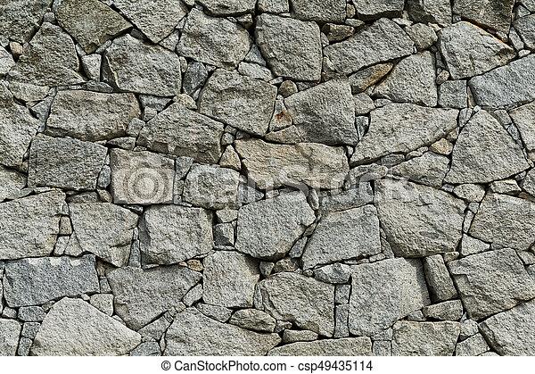 Stone wall texture - csp49435114
