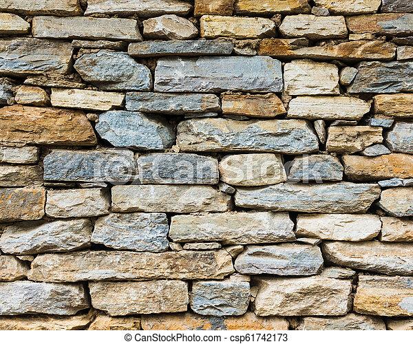 Stone wall texture - csp61742173