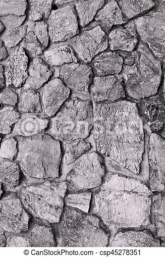 stone wall texture - csp45278351