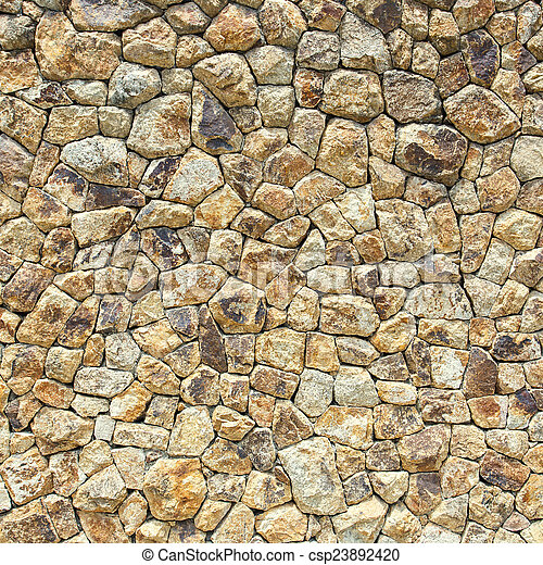 Stone wall texture - csp23892420