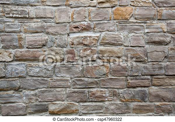 stone wall texture - csp47960322