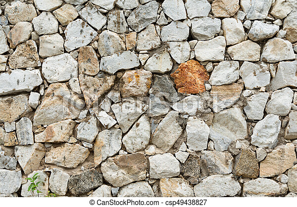 Stone wall texture - csp49438827
