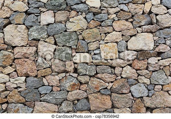 stone wall texture - csp78356942