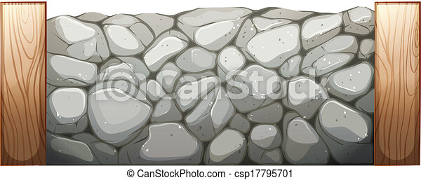 illustration of a stone wall on a white background vector clipart rh canstockphoto com stone wall pattern clipart stone wall clipart free