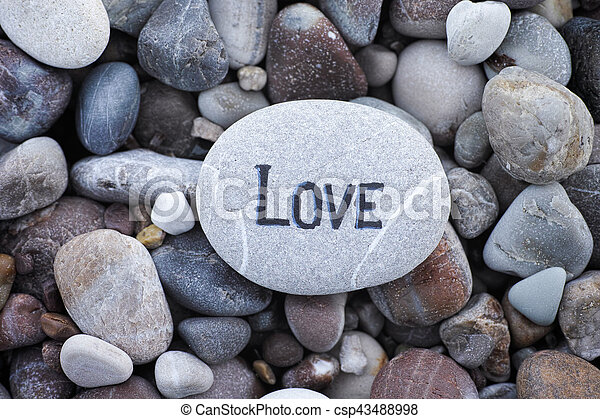 Stone with the word Love - csp43488998