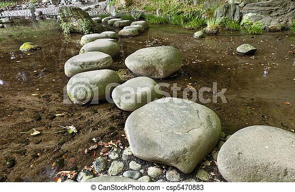 Stone zen path - csp5470883