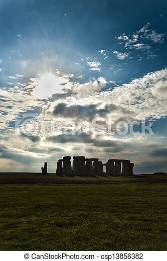 stonehenge  - csp13856382