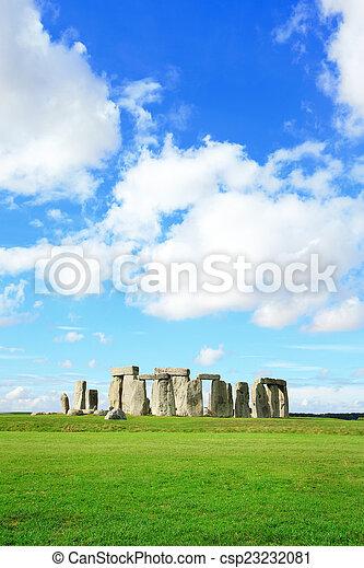 stonehenge, -, verticaal - csp23232081