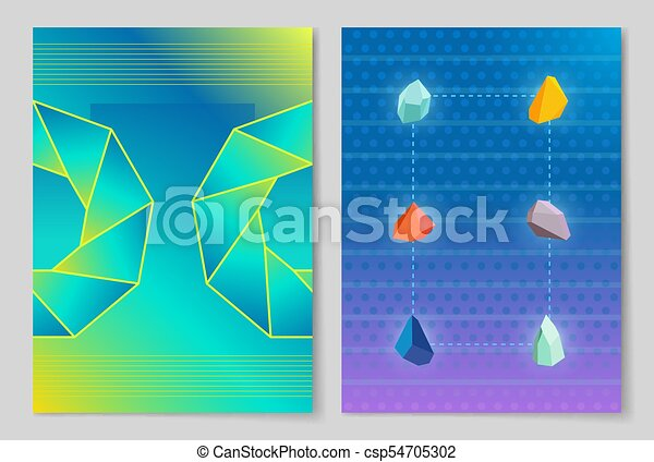 Stones and Circle Posters Vector Illustration - csp54705302