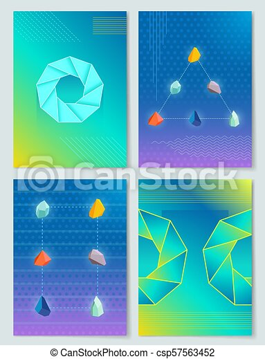 Stones and Shapes Collection Vector Illustration - csp57563452