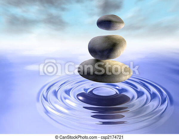 Stones and water - csp2174721