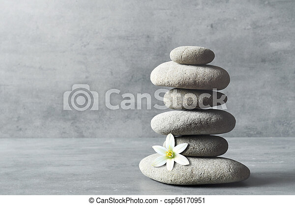 Stones Balance Zen And Spa Concept Stones And White Flower