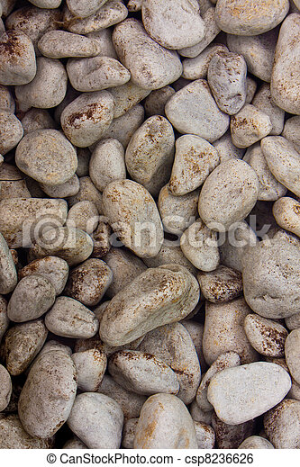 Stones in clear water background - csp8236626