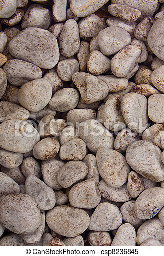 Stones in clear water background - csp8236845