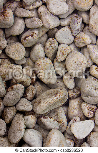 Stones in clear water background - csp8236520