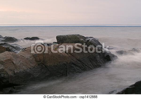 Stones in Grey Water - csp1412888
