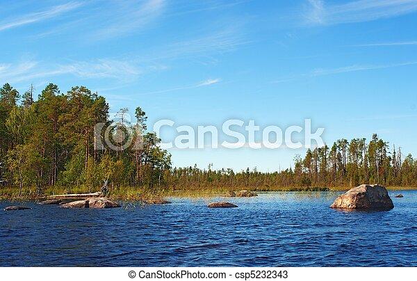 stones in lake water - csp5232343